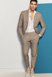 $enCountryForm.capitalKeyWord Canada - 2018 Custom Made Men Suits Brown Wedding Suit Best Man Tailored Groom Prom Casual Tuxedo Slim Fit Terno Blazer Masculino 2 Piece Jacket+Pant