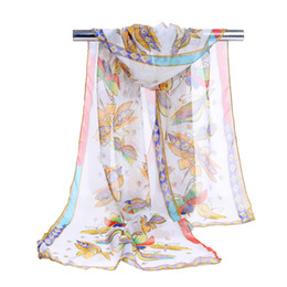 Dragonfly scarves online shopping - 2018 New chiffon scarf Dragonfly print women s muslim lady spring and autumn scarf patterns cape shawl wrap Summer Beach Cover