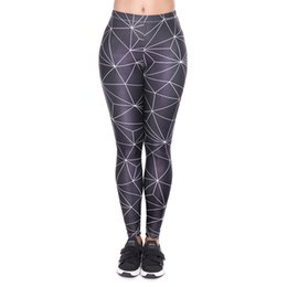 baf04609a8599 Women Leggings Black Polygon 3D Print Girl Skinny Stretchy Jeggings Yoga  Wear Pants Gym Casual Workout Full Length Trousers Hot (YX52051)