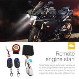 Engine Start Australia - OLOEY 12v 125dB Motorcycle Scooter Security Anti-theft Alarm System Motorbike Lock Protection Remote Control Engine Start