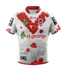 Discount george t shirt - 2018-19 NRL Jerseys St. George memorial version Rugby Jerseys t-shirt high quality jersey rugby clothes wear free shippi