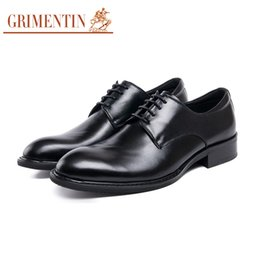 hot formal shoes NZ - GRIMENTIN Brand high quality genuine leather dress mens formal shoes hot sale black brown oxford shoes Italian fashion business men shoes