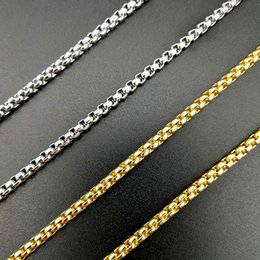 Gold Silver Necklace Chain Men Women Fashion Jewellry Stainless Steel 3mm 61cm