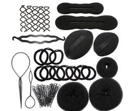 $enCountryForm.capitalKeyWord Canada - Women Magic Braiders Hair Twist Styling Clip Stick Bun Maker Braid Tool Hair Disk Suit Hair style Accessories set kit