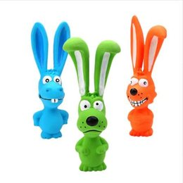 Wholesale Squeak Toys Dog rabbit Latex Chew Dog Toy Animal Pet Squeak Toy