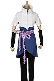 Anime White Uniforms NZ - Naruto Cosplay Sasuke Uchiha The 4th Suit uniform Costume