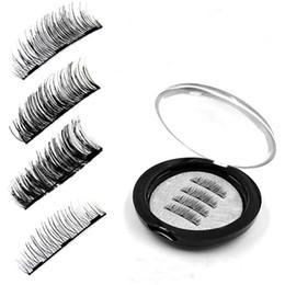 Chinese  2018 New Magnetic False Eyelashes with 3 Magnets Handmade 3D Magnet Lashes Eye Lashes Makeup Kit manufacturers
