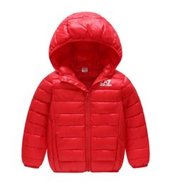 China Baby children s coat best selling new boy s cotton dress girl s pure color hat and light cotton padded jacket -1618-1 suppliers