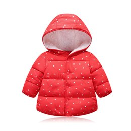 children jackets boys UK - children's outerwear boy and girl winter warm hooded coat new girls hooded jackets autumn winter children clothing