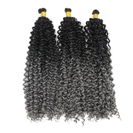 braid deep wave extensions hair Canada - Freetress Water Wave Bulk Synthetic Curly Hair Extensions Weaves Water Wave braidiing Hair Extensions Deep Curly Twist Braids