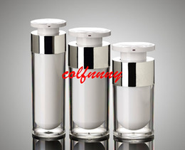 $enCountryForm.capitalKeyWord Canada - 50pcs lot 15ml 30ml 50ml acrylic airless vacuum pump lotion bottle used for serum lotion emulsion foundation Cosmetic Container