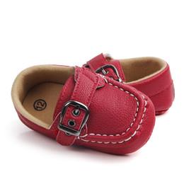 $enCountryForm.capitalKeyWord Australia - Baby Shoes Toddler Infant Anti-slip First Walkers Shoes Kids Children PU Prewalker Sneakers Boy 0-18 Month