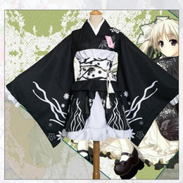 japanese kimono women cosplay NZ - Japanese Style Women Kimono Elegant Print Flower Stage Performance Costume Vintage Original Tradition Yukata Dress Cosplay Robe