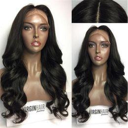 $enCountryForm.capitalKeyWord NZ - Brazilian Full Lace Wigs With Baby Hair Long Body Wave Human Hair Lace Front Wigs Full Lace Human Hair Wigs For Black Women