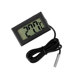 Digital Thermometer Meter Australia - Mini Digital Car Thermometer -50~110 degree Temperature Meter with Waterproof Probe Sensor Car Ornaments Ornaments