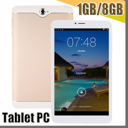 quad android tablet Australia - 2017 3G 7 Inch Phabet Phone Call Tablet PC 1024*600 Capactive Screen Mtk8312 Quad Core Cpu Ram 1GB RAM 8GB ROM Android 7.0 System GPS Wifi