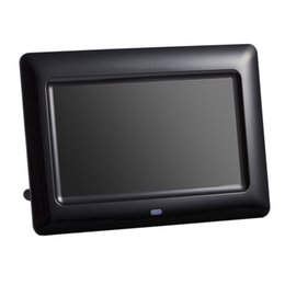 Video photo frame online shopping - 7 inch Screen X480 Full Function Digital Photo Frame Clock Music Video Player with Remote Control Electronic Album Picture Frame