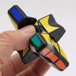 Discount magic cube gyro - Gyro Cube Children Puzzle Games Toys Plastic Black Matrix Fingertip Gyro Fidget Spinner Finger Revolving Magic Cube Puzz