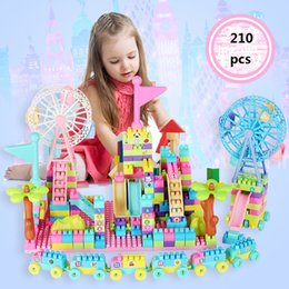 Toys Construction Set Canada - 210 Pcs Hot Building Blocks Bricks toys Designer Construction Set Model & Building Toy Blocks Educational Toys Gifts for the New Year
