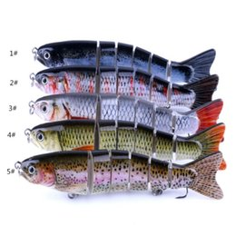 Discount soft lure bait section Lures 2018 New Fishing Lure ABS Plastic Hard Fishing Multi-Section Bait Boxed Bionic Plastic Bionic False Bait 12.7cm  2