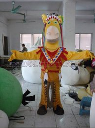 Free plush horse online shopping - horse Chief mascot costume Adult Size African horse luxurious plush toy carnival party celebrates mascot factory sales