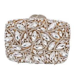 Gold Silver Luxury Diamond Crystal Purse Ladies Clutch Bag Wedding Prom Evening  Bags pouch Women Female pochette SC768 faebb219da12