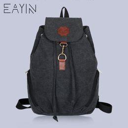 $enCountryForm.capitalKeyWord Canada - EAYIN Women And Men's Vintage Canvas Bag Laptop Backpack Men Travel Large Capacity Backpack School For Girls and Backpacks Bags