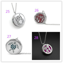 China 16 styles Aromatherapy Essential Oil Diffuser Necklace magnet close Locket Pendant 316L Stainless pendant necklaces Jewelry xx002 cheap necklace closer suppliers