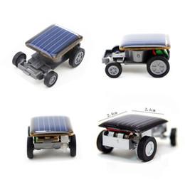 Small Solar powered toy car online shopping - New Strange Black Creative Smallest Mini Solar Powered Car Model Solar Toys Kit Gadgets Educational Baby Kids Toys for Children