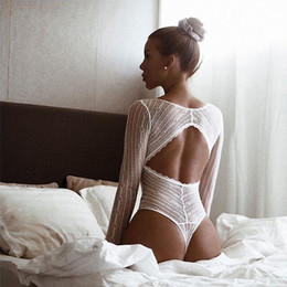 $enCountryForm.capitalKeyWord Australia - Lace Mesh Jumpsuit Rompers Sexy Body Suit One Pieces Long Sleeve Track Jumpers Playsuit Overalls For Women 2018 WS6696U S1012