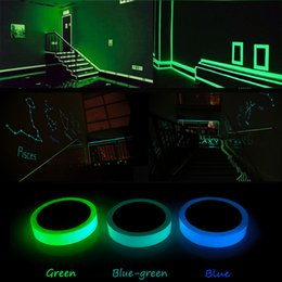 Discount pvc wall stickers glow dark - Glow In Dark Tape Wall Sticker Luminous Tape Stage Home Decoration Glow Self-adhesive Choose Color