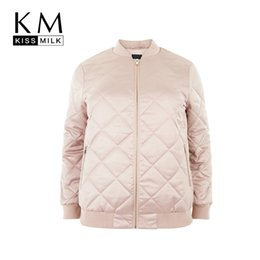 02f1425bb9b72 Kissmilk Plus Size New Fashion Women Clothing Basic Casual Warm Outwear  Long Sleeve Zipper Big Size Jacket 3XL 4XL 5XL 6XL C18110601