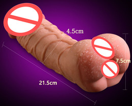 Discount adult penis strap - Sex Toys For Men And Women Soft Realistic Dildo Anal Channel Sex Pocket Pussy Artificial Penis Sleeve Dildos Erotic Prod