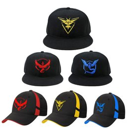 Wholesale China baseball cap Suppliers Cosplay Mobile game Team Valor Team Mystic Team Instinct snapback baseball Cap hat