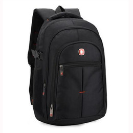Sac Laptop UK - Wholesale- Brand Swiss men laptop backpack computer back bag sac a dos backpacks Travel oxford waterproof 14 15.6 inch bags