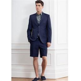 $enCountryForm.capitalKeyWord Canada - 2018 New Blue Wedding Men Suit With Short Pants Fashion Elegant Business Terno Masculino Mens Summer Groom Wear Suits Sets