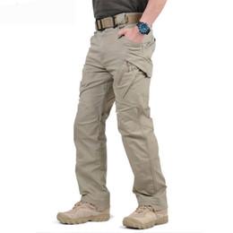 802ffb6a056 Pantalones de carga Hombres Pantalones de trabajo tácticos negros Hombre  Pantalones de combate Ejército SWAT Fuerzas especiales Corredores Pantalones  de ...