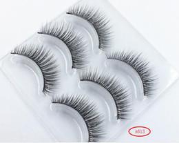 $enCountryForm.capitalKeyWord Australia - New Arrival 3 Pairs 3D Natural Stitch Cross Messy False Eyelashes long makeup 3D Lashes Fake Eye Lashes Extension Make Up Beauty