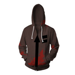 31546ea71444d Cosplay Angels of Death Costume Isaac Foster Zack Cosplay Sweatshirts Uniex  3D Printing Zipper Jacket Hooded Sweater Coat Tops