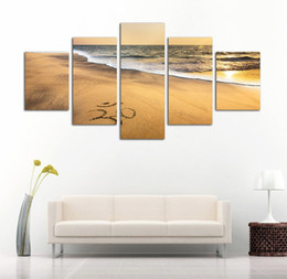 $enCountryForm.capitalKeyWord NZ - Unframe 5 Pieces Canvas Wall Art HD Prints Painting Sheikh Zayed Grand Mosque Modular Pictures Posters Living Room Home Decor