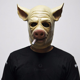 $enCountryForm.capitalKeyWord Australia - Cigar Hog Mask Game H1Z1: Kill of the King Cosplay Full Head Latex Pig Masks for Halloween