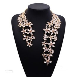 Fashion Collar Choker Jewelry Flower NZ - 2017 Spring Summer New Hot Fashion Jewelry Chunky Gem Crystal Flower Choker Necklace Single Shoulder Statement Necklace XG587 L18101101