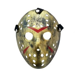 Discount black mask cosplay - Halloween Mens Scary Mask Games Character Jason Cosplay Costume Accessories PVC Material Male Funny Party Mask