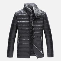 $enCountryForm.capitalKeyWord Canada - 2018 NEW Leather Winter Jackets Men Clothes Black Casual Autumn Mens Winter Coats Cotton Padded Parka Keep warm down jacket