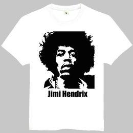 b5e335860 Jimi Hendrix t shirt Guitar player short sleeve gown Music tees Leisure  white clothing Quality cotton Tshirt