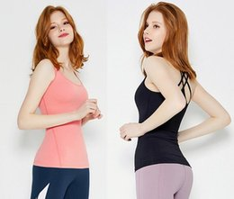 2018 moda sport fitness femminile estate nuova maglia cuciture senza cuciture intrecciato mestiere camisole yoga abbigliamento