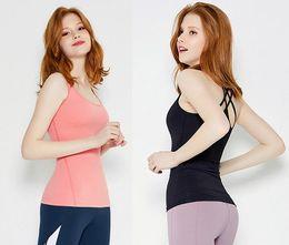 2018 mode sport fitness femelle été nouveau maille couture sans couture tressée artisanat camisole yoga vêtements