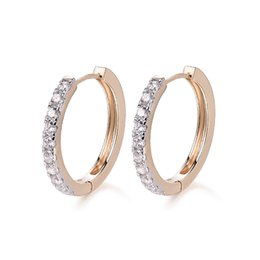 c2fcd8f55 hoop earrings New 2017 Gold-Color Hoop Earrings For Women boucle d'oreille  Crystal Zircon Earring Fashion Free shipping10E18k-11