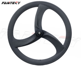 Trials bicycles online shopping - 700C road bike tri spoke carbon wheels mm clincher fixed gear spokes road bicycle wheel high quality clincher for Time Trial Bike Wheel