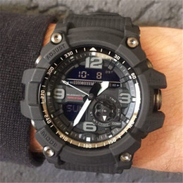 Analog Digital Man Watch NZ - Shock Mens Sports Wristwatches 2019 New Arrival LED Digital Analog Dual Display G Style Shock Man Male Outdoor Compass Clock Watches Saat